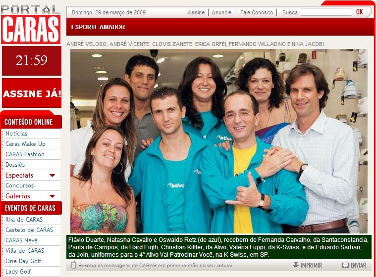 """Projeto """"Ativo.com vai patrocinar você"""" na revista CARAS"""