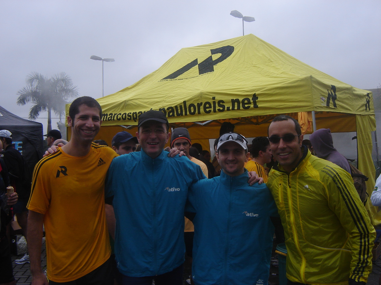 Cesar (Técnico MPR), Oswaldo (Atleta Ativo), Flavio Jose (Atleta Ativo) e Emerson Gomes (Técnico MPR)