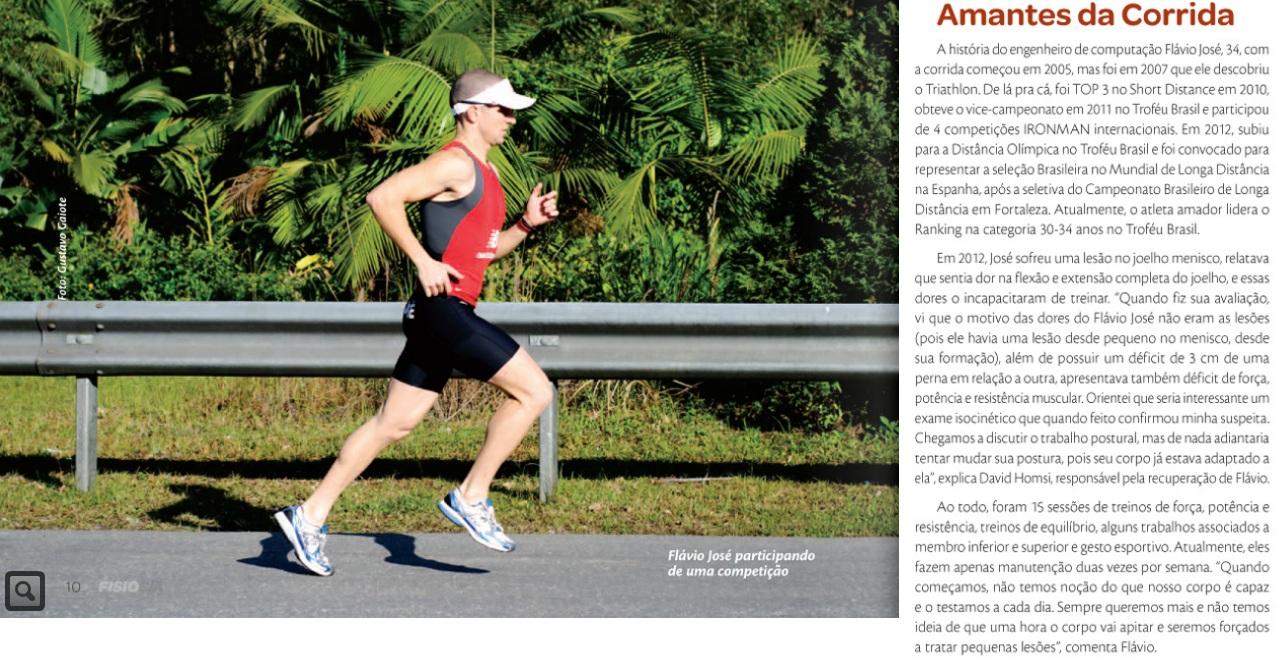 Materia na Revista Fisio SA com o Fisio David Homsi - Foto : Gustavo Gaiote