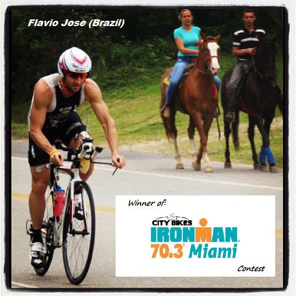 Foto ganhadora da promoção do patrocinador do IM 70.3 Miami