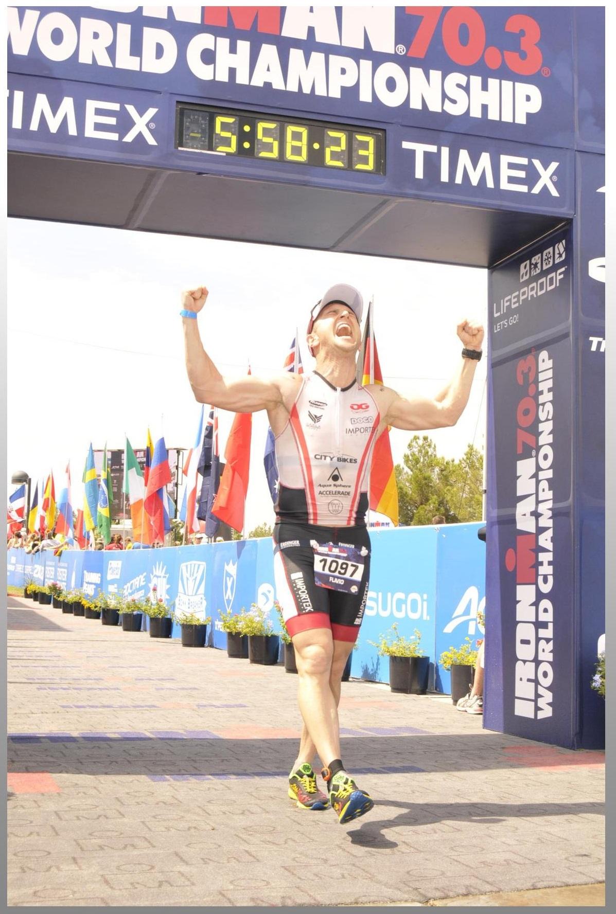 Chagada Emocionante de Flavio Jose no Mundial de Ironman 70.3 em Las Vegas