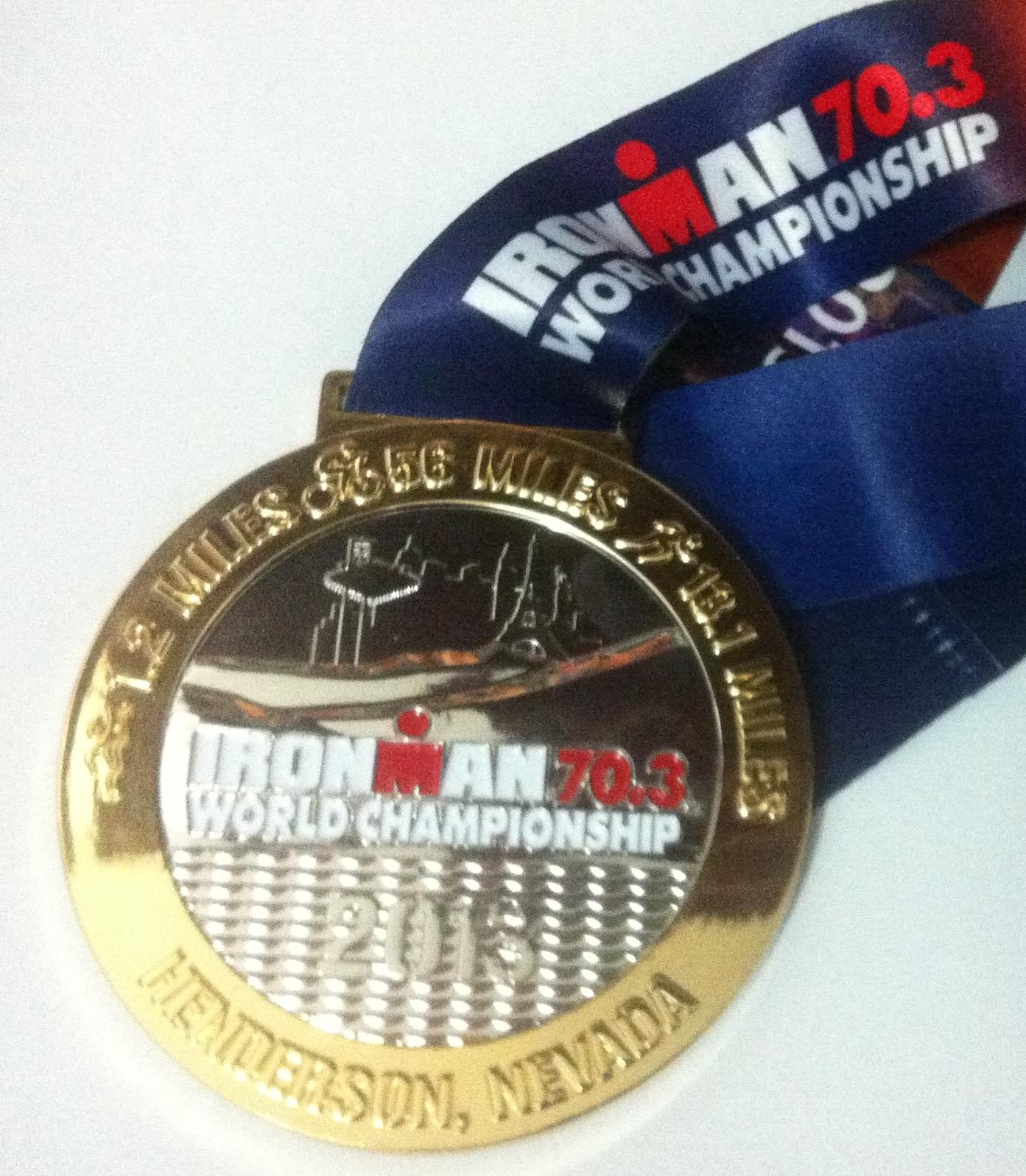 Medalha Finisher Mundial Ironman 70.3 Vegas 2013